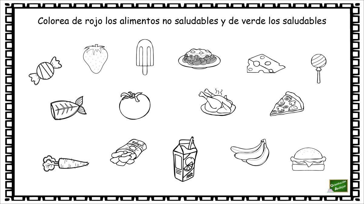 Cuaderno De Actividades De La Alimentación Aprendemos Los Alimentos Saludables Y No Saludables Alimentos Saludables Alimentos Vida Saludable Para Niños