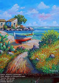 Risultati immagini per paesaggi marini dipinti | Art ...
