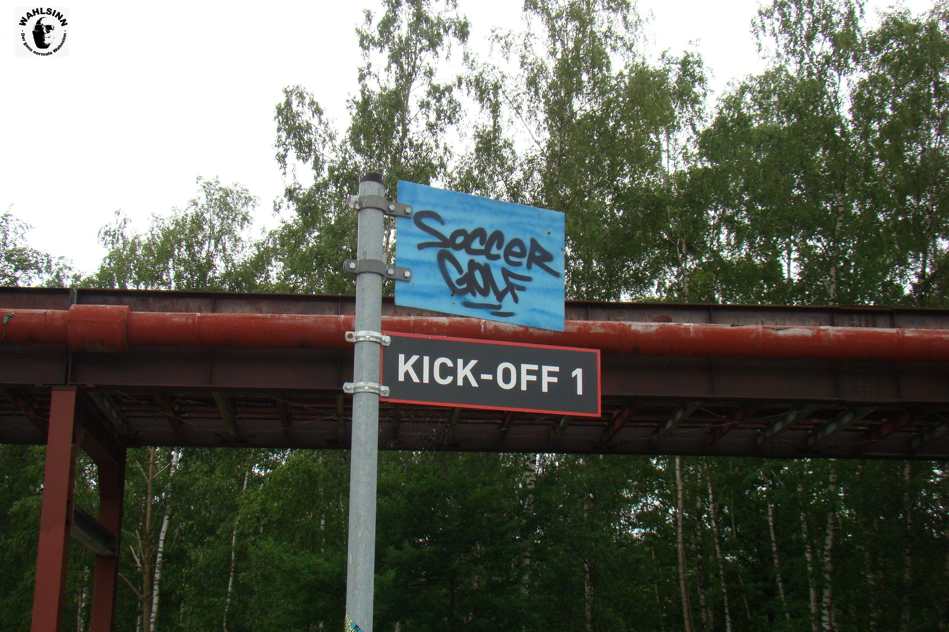 Fußballgolf - Der erste Kick-off - wie weit kommste?