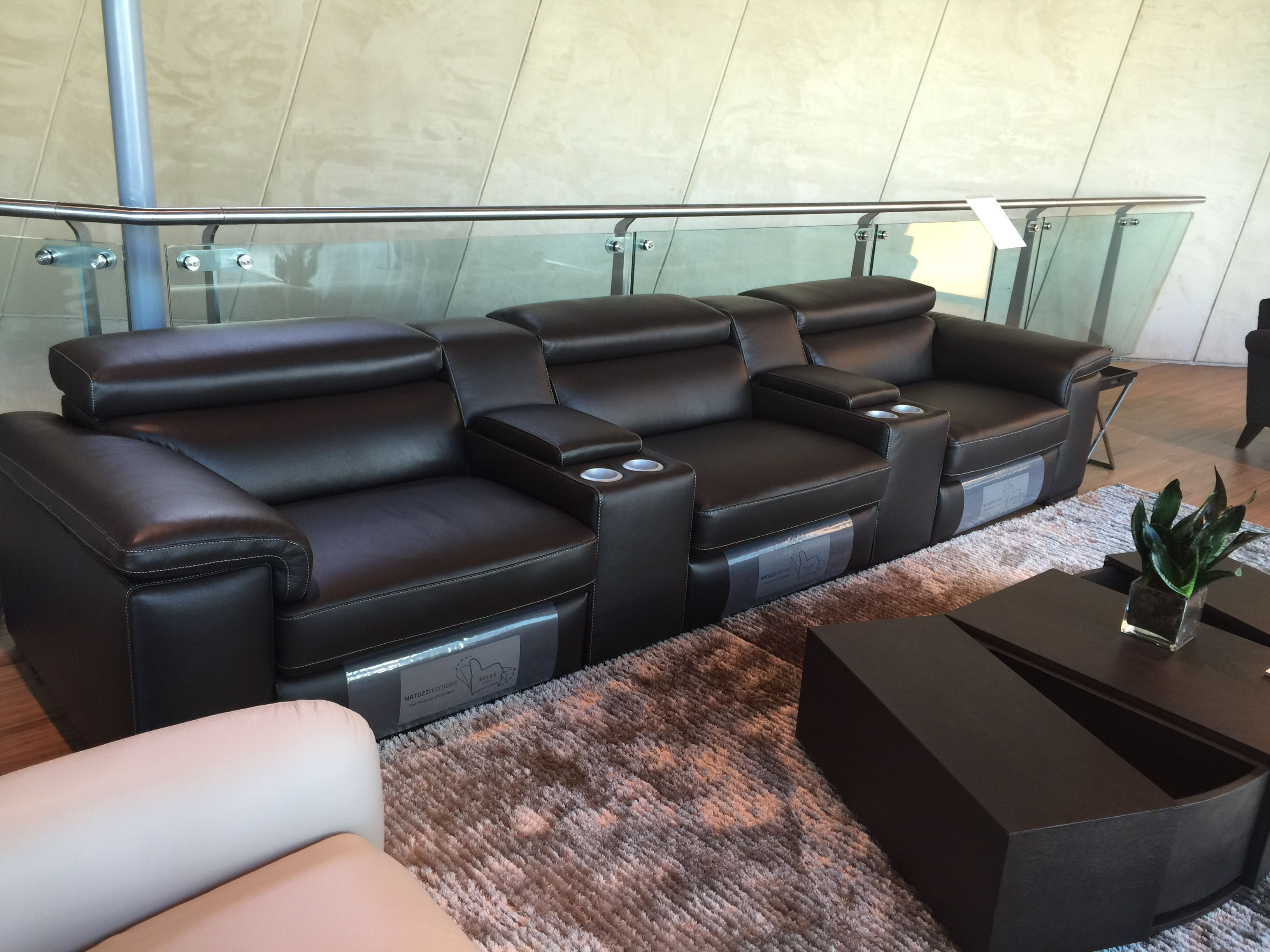 Natuzzi Editions Home Theater Sectional Sofa