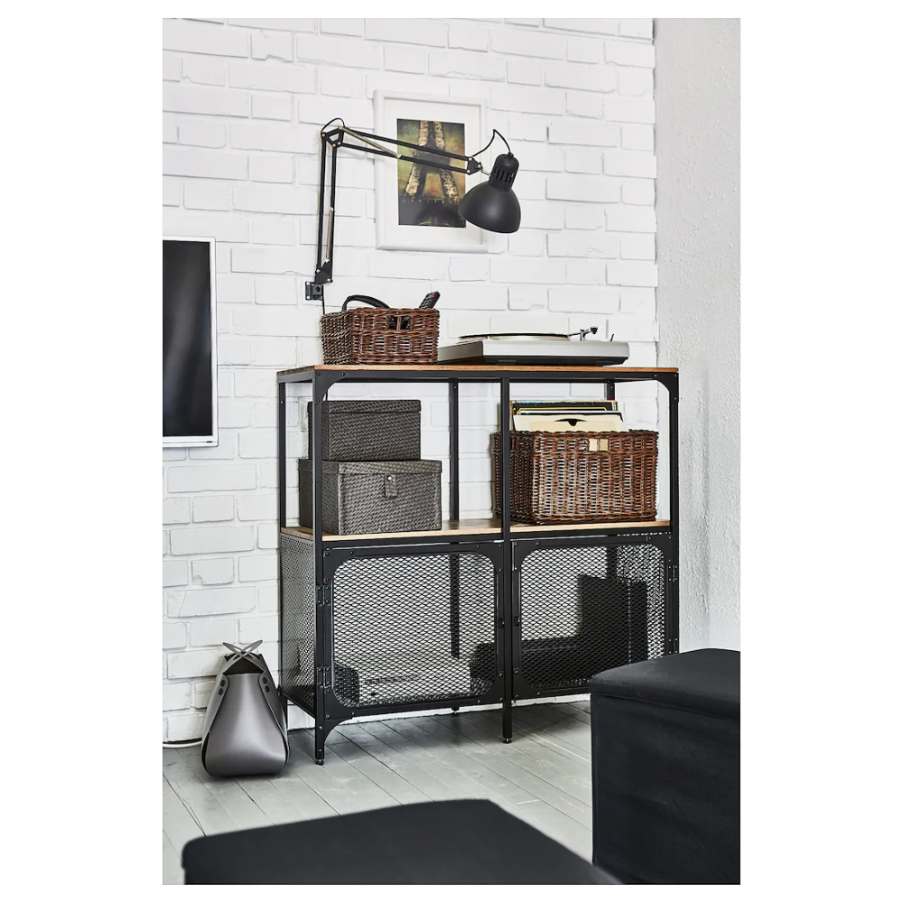 Fjallbo Shelf Unit Black 39 3 8x37 3 8 Ikea Shelf Unit Shelves Solid Wood Shelves