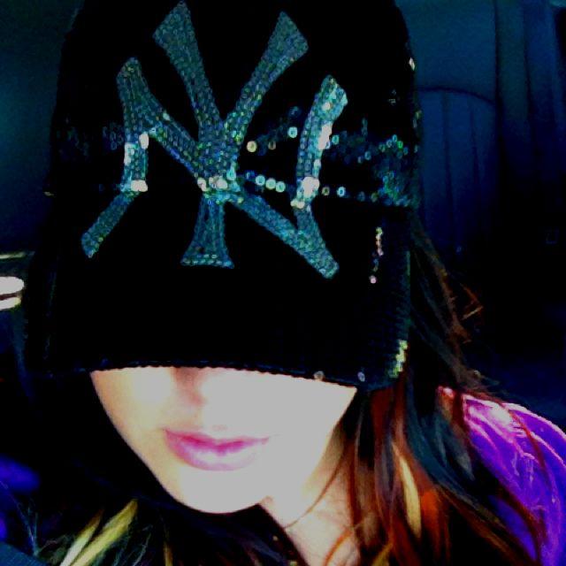 3c7e7a68fdb Love my sequins Yankees hat!