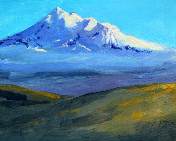 Abstrakte Malerei Original Berg Szene Acryl 8 X 10 Landscape Paintings Mountain Landscape Painting Landscape Art Prints