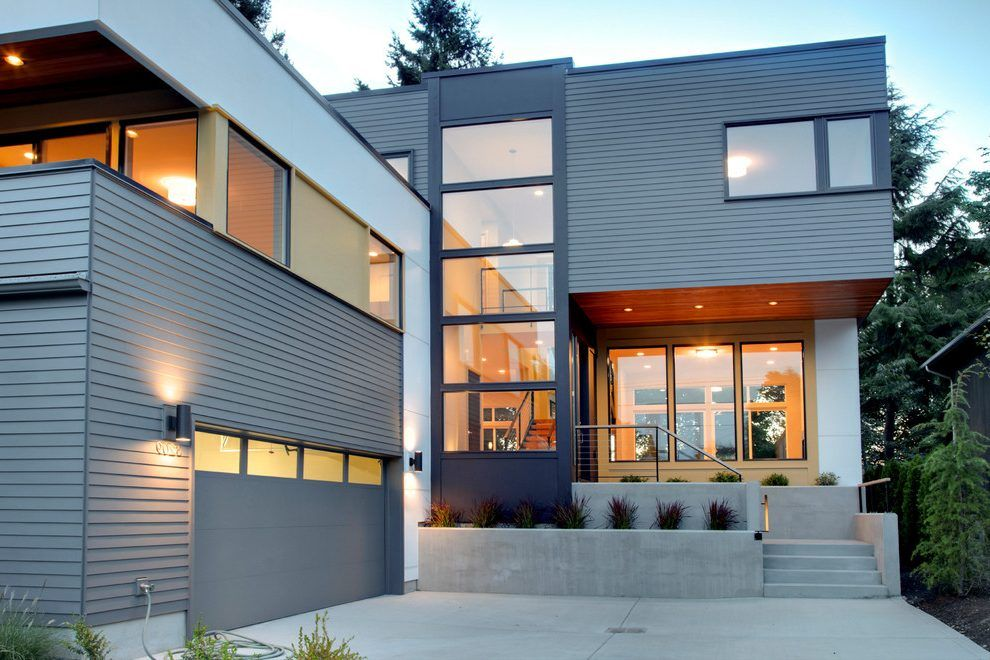 stack windows exterior contemporary with modern brown on modern house designs siding that look amazing id=62790