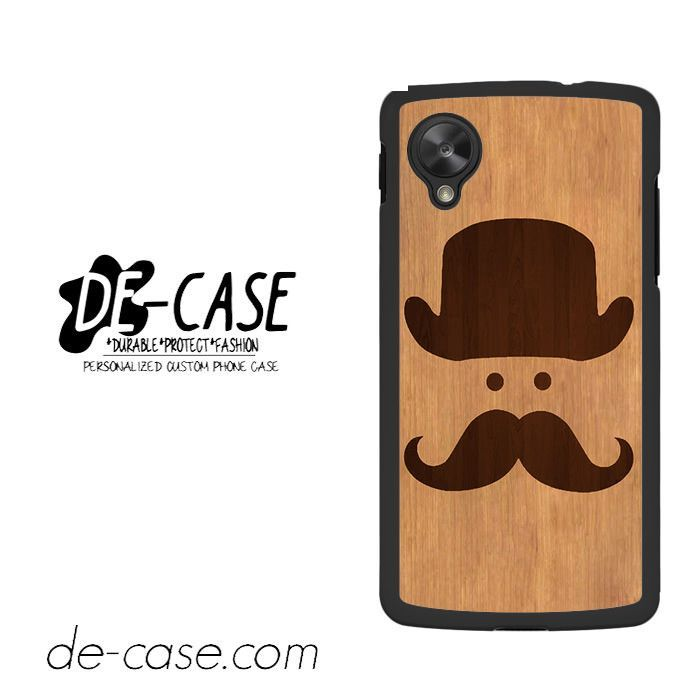 Moustache Wood For Google Nexus 5 Case Phone Case Gift Present YO