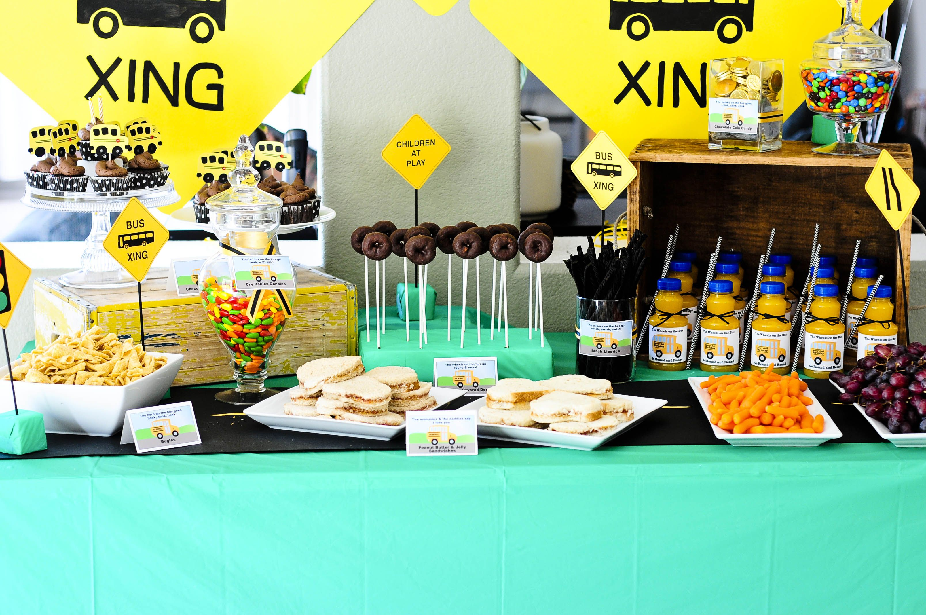 Wheels On The Bus Party Planning Ideas Supplies Idea Back To School