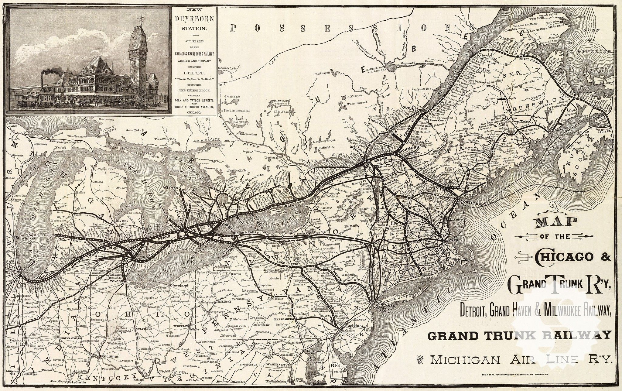 Chicago railroad map wall mural kids pinterest chicago and chicago railroad map wall mural publicscrutiny Images