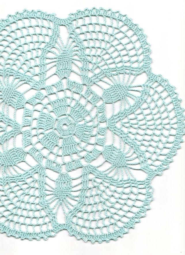 Crochet doily, lace doilies table decoration, crocheted place mat ...