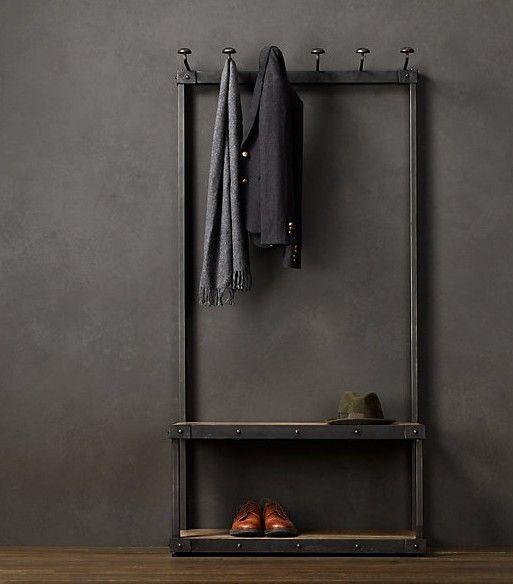 Pas Cher Loft American Vintage Style Industriel Fer Forgé - Porte manteau industriel