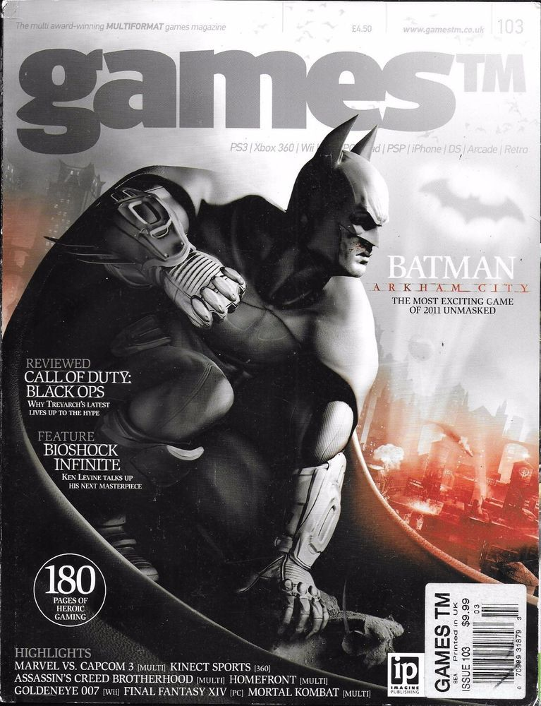 Games video game magazine Batman Arkham City Call of Duty