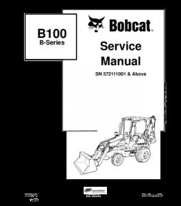Best download bobcat b100 b-series backhoe loader service