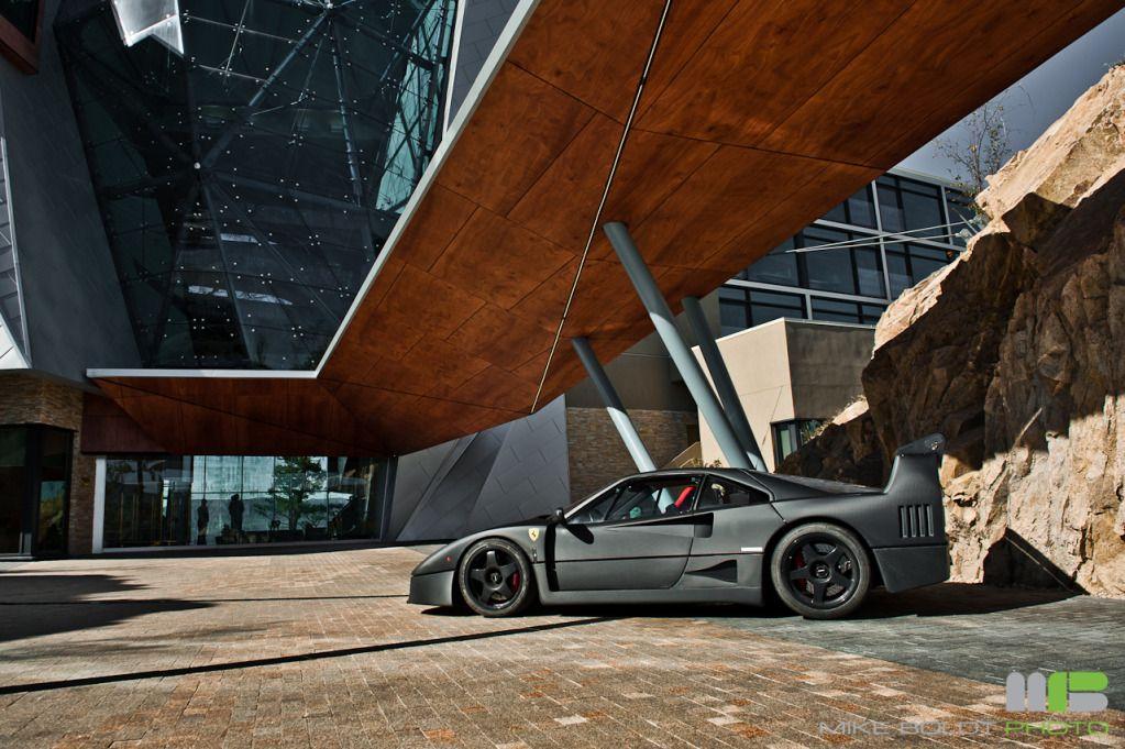Flat carbon Ferrari F40!