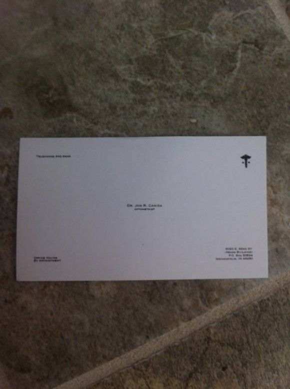 Optometrist S Business Card Clever