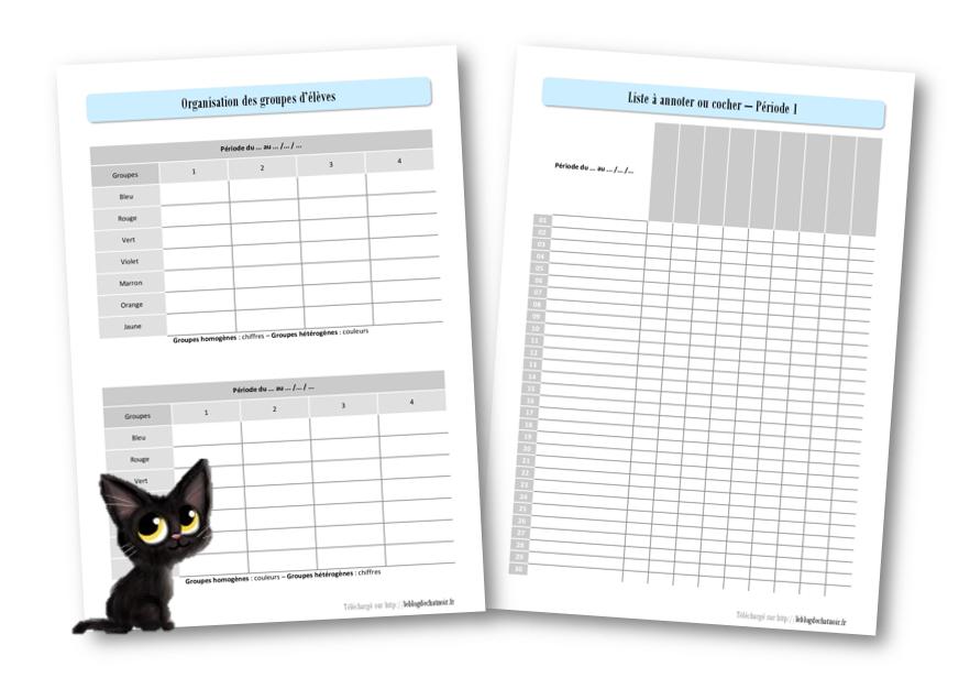 mon cahier de bord 2017 2018 le blog de chat noir classeur du professeur pinterest chats. Black Bedroom Furniture Sets. Home Design Ideas