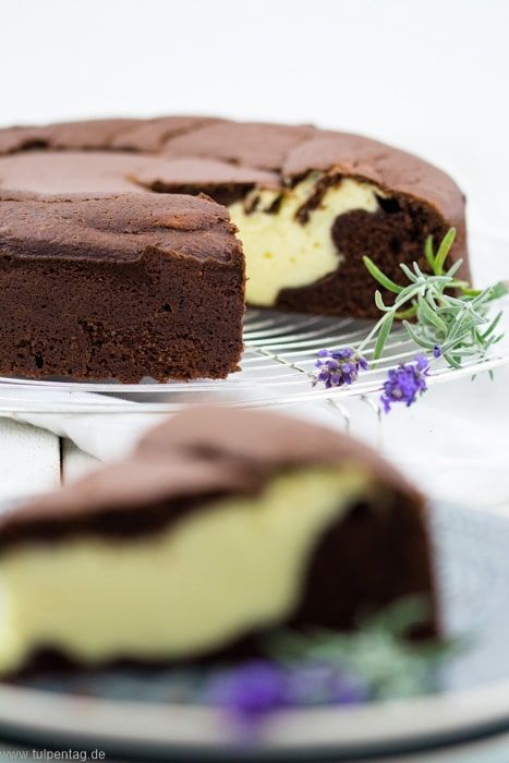 Käsekuchen Schokokuchen Schokoladenkuchen Füllung einfach lecker Rezept