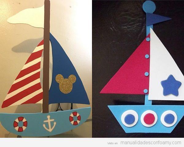 Barcos goma eva f ciles para ni os decoracion con goma - Imagenes de barcos infantiles ...