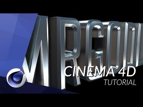 20) HOW TO CREATE REALISTIC METALIC TEXT IN CINEMA 4D