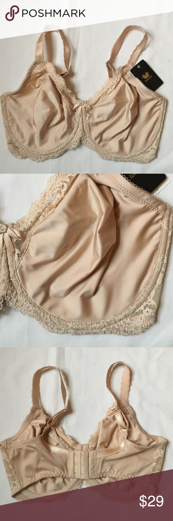 56505ef4d2 WACOAL 855203 Supporting Role Underwire Bra 34G Unlined two ply cups in  soft sheen stretch fabric