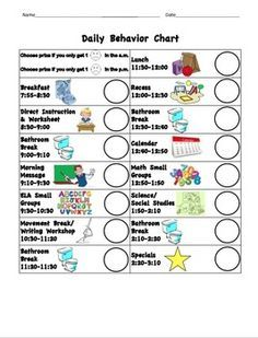 This Is A Behavior Chart For Students Who Need Constant Positive Reinforcement Their Good Helps Even The Youngest School Agers Be
