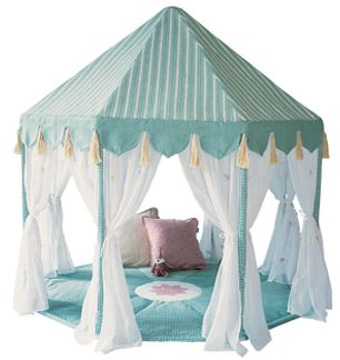 Willow Green Pavilion Play Tent-Willow Green Pavilion Play Tentluxury childs toyluxury play tentplayroom tent for kidschildrens playhouse  sc 1 st  Pinterest & how hard to make? PVC pipe...some triangles... cheesecloth ...