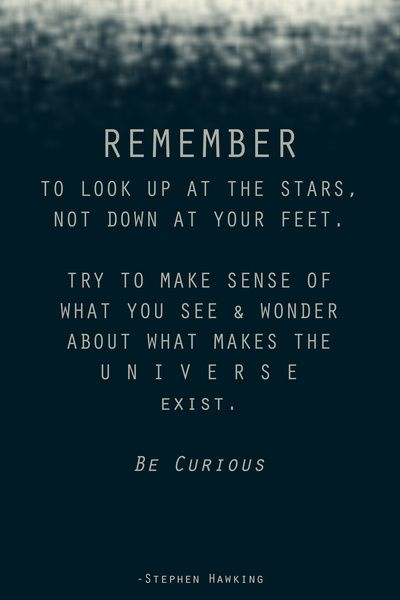 Pin By Azraa Sujee On Words Curiosity Quotes Stephen Hawking Quotes Words