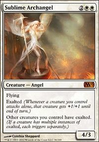 SUBLIME ARCHANGEL M13 Magic 2013 MTG White Creature—Angel MYTHIC RARE