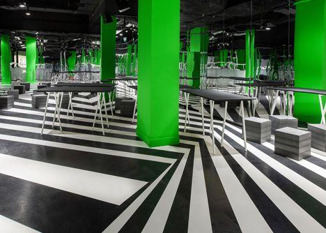 Un nuevo lexico grafico que esta pasando del diseño hacia la arquitectura - Imaginarium - OMA