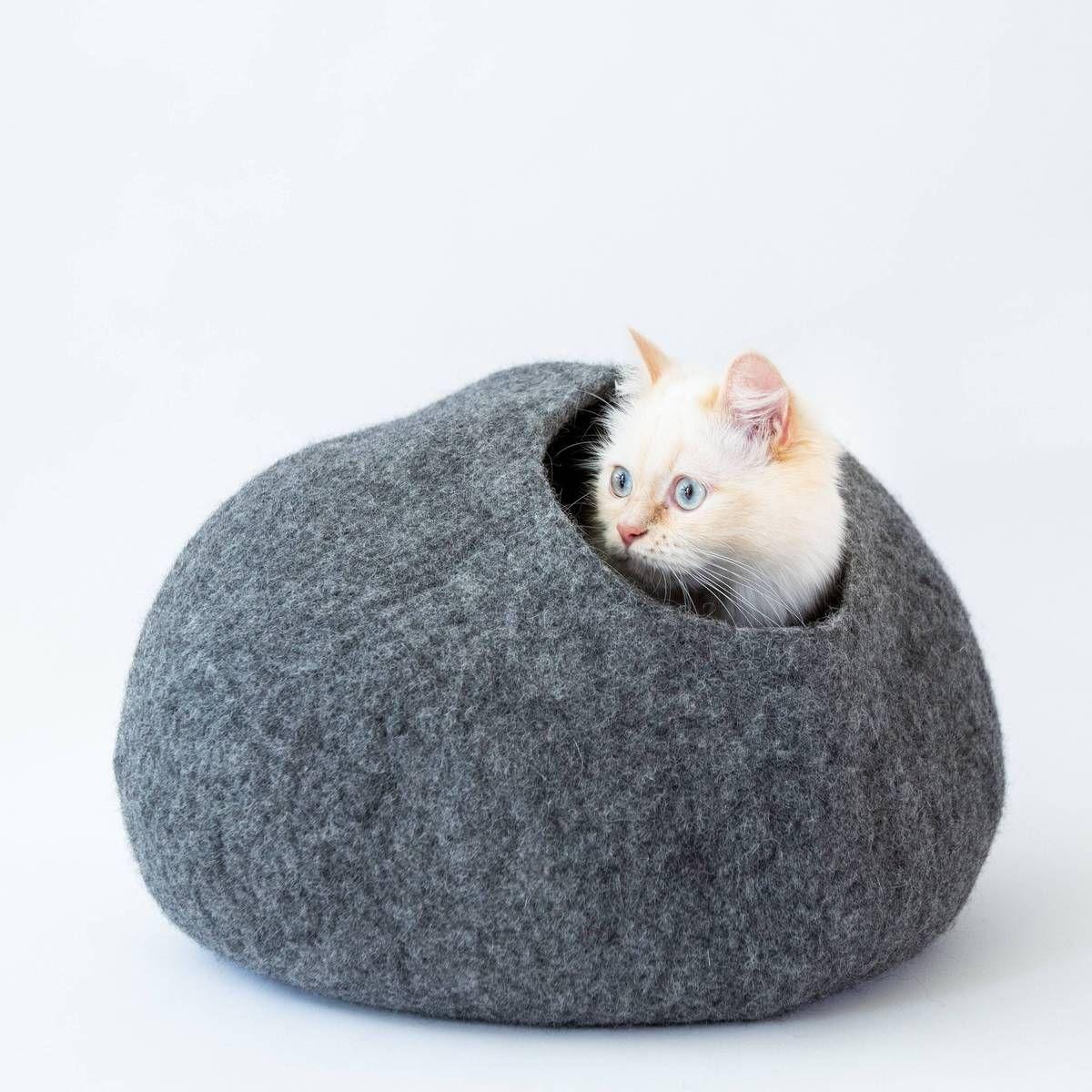 Heather Grey Cat Cave Pet Bed Cat Cave Co In 2020 Cat Cave Cat Bed Grey Cats