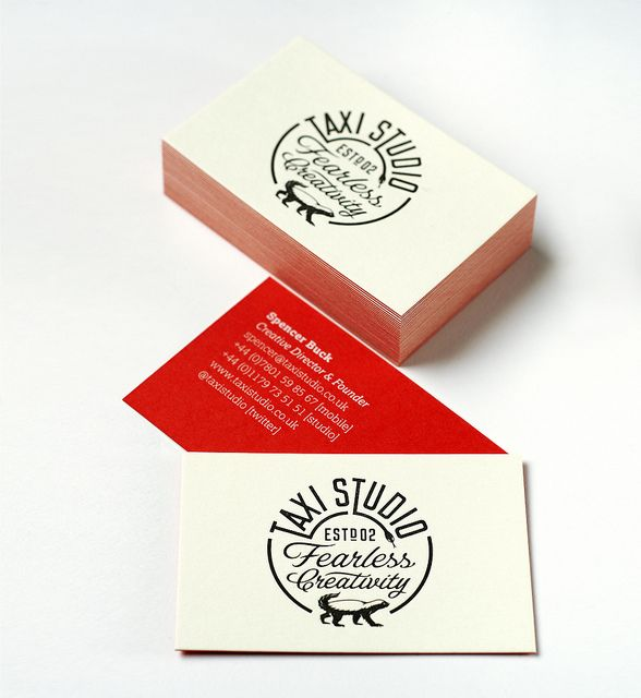 Letterpress Printed Foiled Business Cards For Taxi Studio 1 Letterpress Printing Business Cards Letterpress