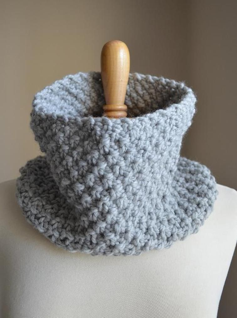 Knit Scarf, Knit Cowl, Chunky Cowl, Neck Warmer | Craftsy ...