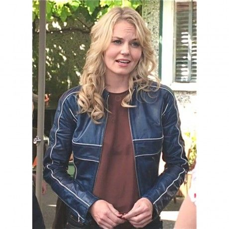 Gorgeous Once Upon A Time Emma Swan Blue leather Jacket for Sale:  If you are a woman who is looking for a premium and sophisticated fashion then you can always look for the leather jackets. One of the attractive jackets isGorgeous Once Upon A Time Emma Swan Blue leather Jacket for Sale. This jack