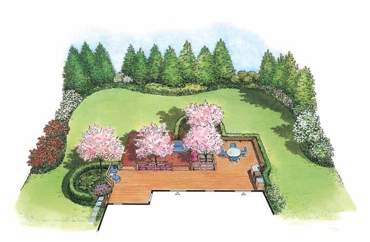 Eplans Landscape Plan Love Outdoor Living From House Code Hwepl11442