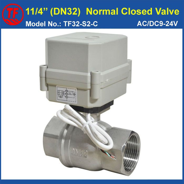 Tf32 S2 C 1 1 4 Dn32 Ac Dc9 24v 2 Wires Control Electric Water Valve Normal Closed Type 2 Way Stainle Electric Water Valve Stainless Steel 304 Electricity