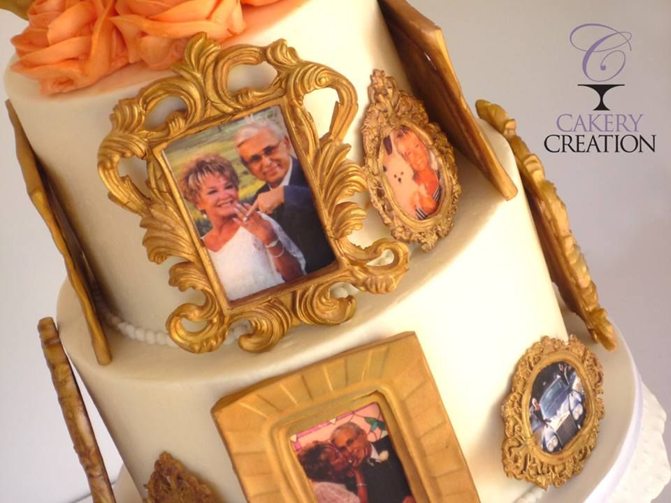 Picture frames cake * Anniversary Cake all edible
