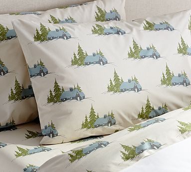 Lodge Sheet Set Potterybarn Reminds Me Of The River