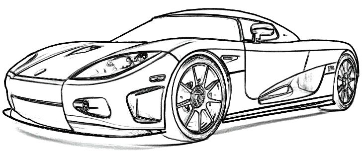 Koenigsegg CCX1 Coloring Page | koe | Pinterest