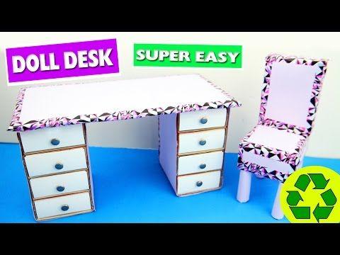 Diy Cardboard Doll Desk Easy Doll Crafts Simplekidscrafts