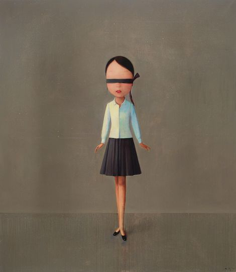 chinese contemporary artist Liu Ye, composition with Black White and Grey on ArtStack #liu-ye-liu-ye #art