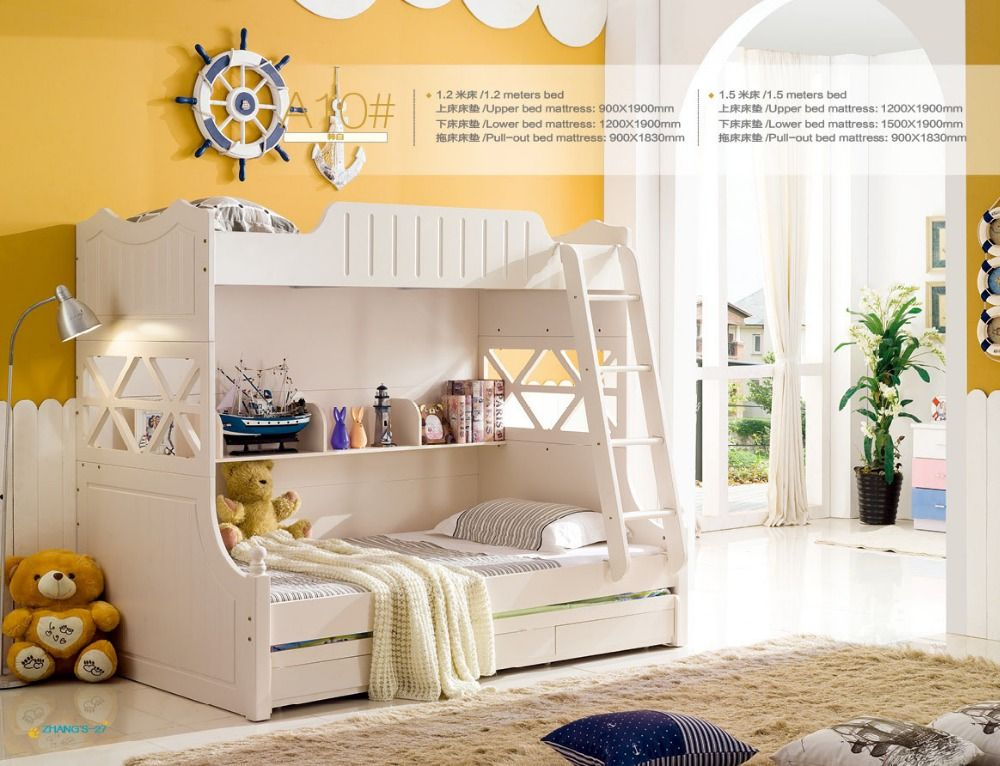 2016 Luxury Baby Beds Beds Literas Rushed Top Fashion Wood Beliche Lit Enfants Meuble Childrens With Stairs Kids Bedroom Sets //Price: $US $442.00 & FREE Shipping //