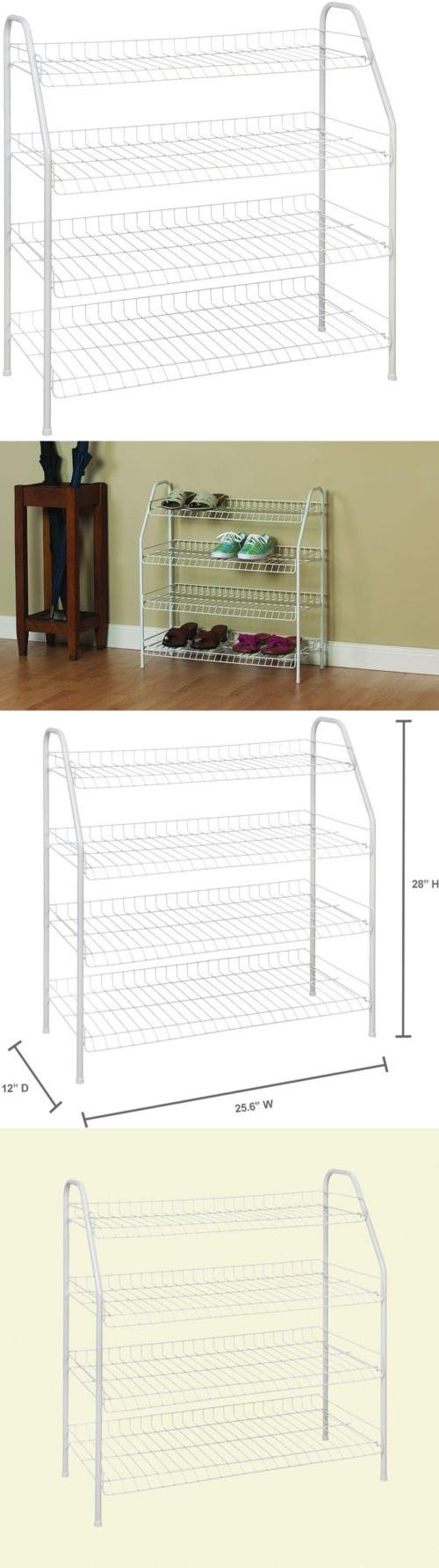 Closet Organizers 43503: Closetmaid Ventilated Shelf Wire Rack Closet Shoe  Organizer White 28X26x12  U003e
