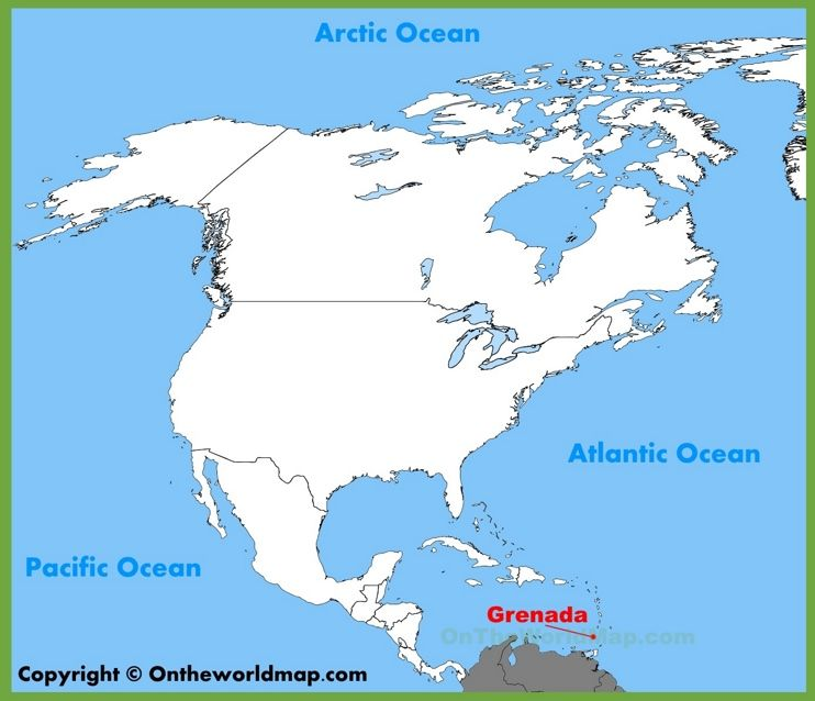 Grenada location on the North America map | Maps | Pinterest