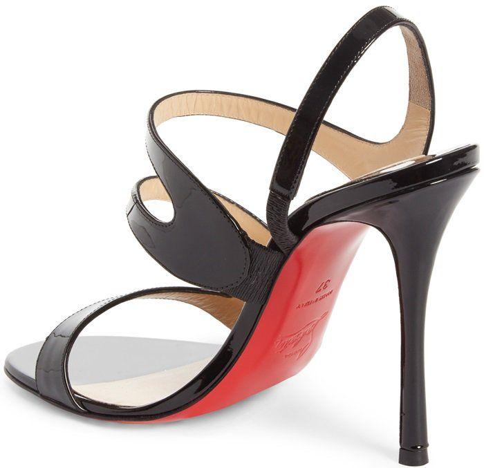 Womens Vavazou Patent Leather Sandals Christian Louboutin J51MV