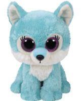 "6/"" TY Beanie Boo Animals Great Wolf Lodge Exclusive Plush Toy Iris Glitter Eyes"