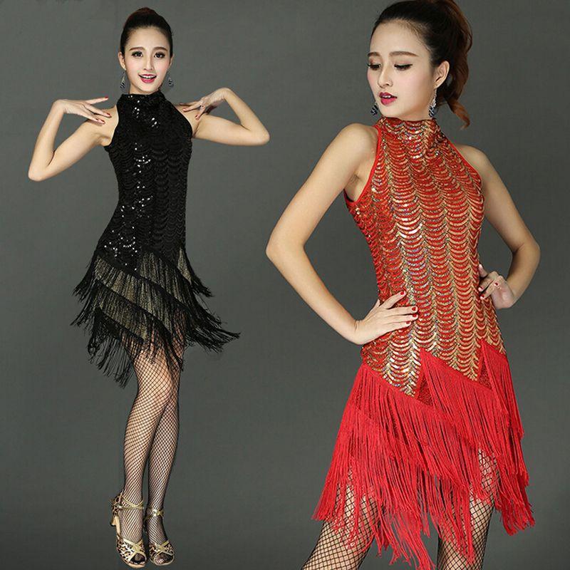 15234a6da Click to Buy << New Arrival Sequins Tassel Latin Dance Suits Costume women  Fringe Ballroom Tango Samba Rumba Clothes latin dance sequins Skirt  #Affiliate. >>