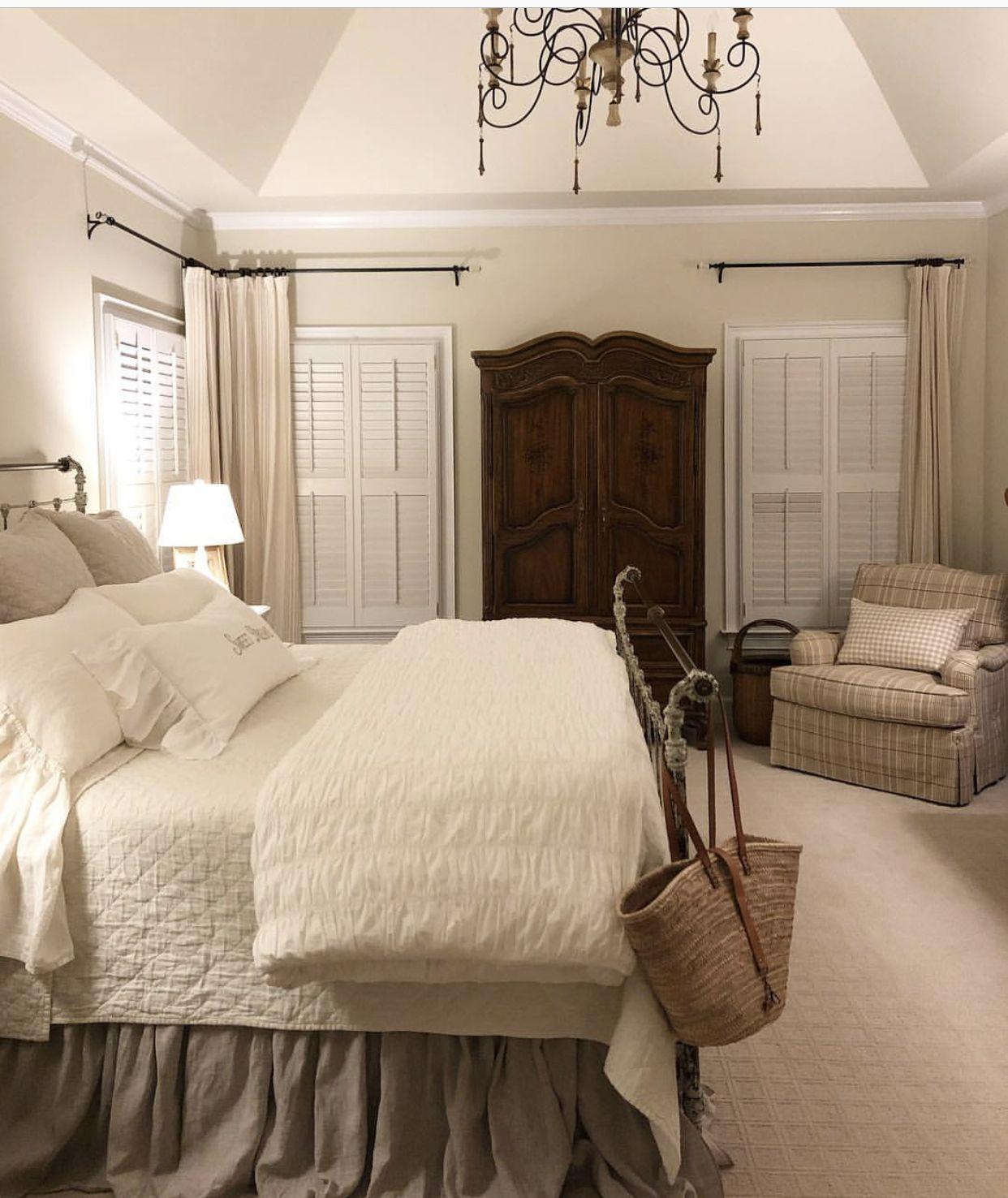 Vintage French Soul Cozy Home Decor Bedroom Master Bedrooms Decor Bedroom Design