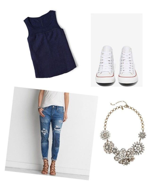 """""""Casual Day"""" by mnmoats20 on Polyvore featuring American Eagle Outfitters, Boden, J.Crew and Converse"""