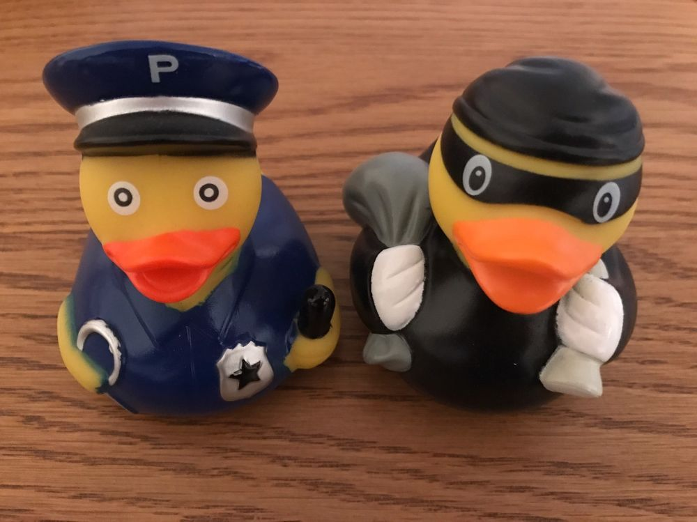 Police Bath Time Rubber Duck Cop And Robber Set | eBay | Duckies ...