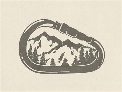 Carabiner Logo Google Search Wilderness Tattoo Climbing Art Mountain Tattoo