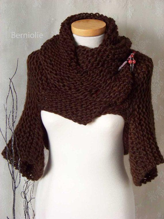 CHOCOLATE, Knitting shrug pattern pdf