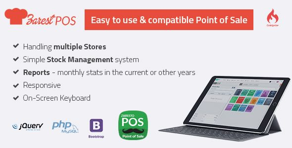 Free Download ZARest POS - restaurant point of sale web application